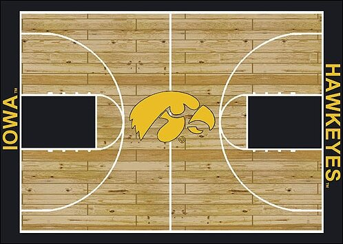 NCAA College Home Court Iowa Novelty Rug by My Team by Milliken
