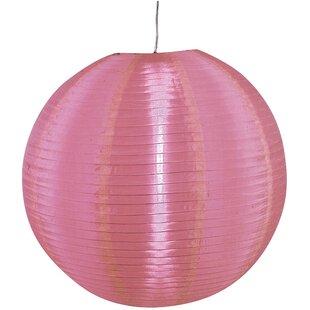 Pink light shades wayfair osaka 50cm nylon lampshade aloadofball Choice Image
