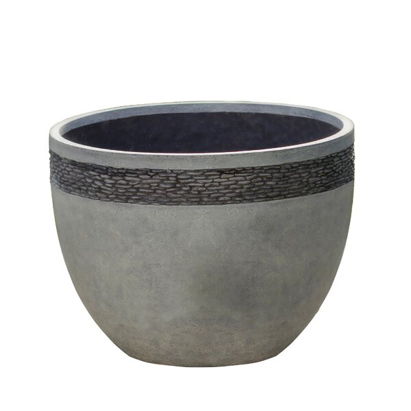 Pebbled Fiberclay Pot Planter by Winsome House