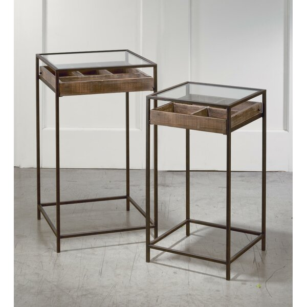 Kaylah 2 Piece Nesting Tables by 17 Stories