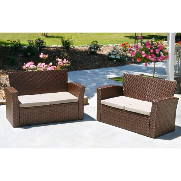 Hope Rattan Loveseat (Set of 2) by Ivy Bronx