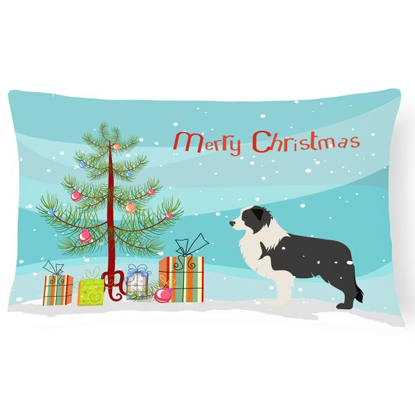 Border Collie Indoor/Outdoor Lumbar Pillow by The Holiday Aisle