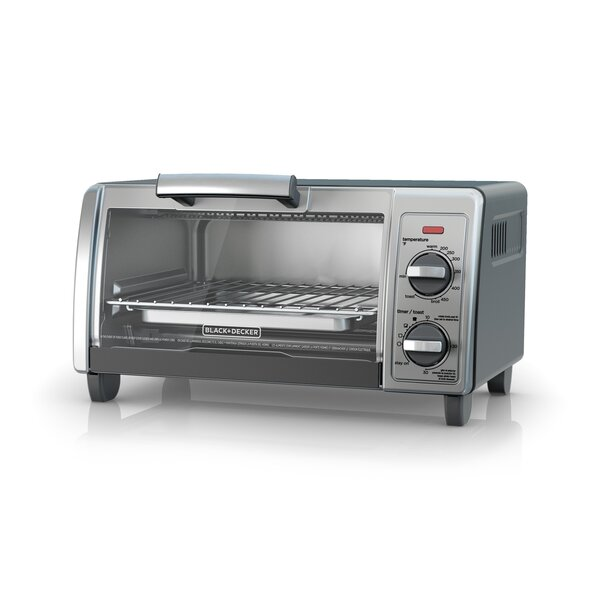 4-Slice Stainless Steel Toaster Oven by Black + Decker