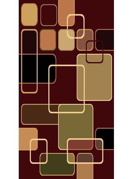 Kayra Red Area Rug by Beyan Signature