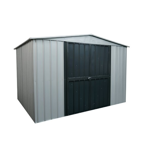 Gable 7 ft. 8 in. W x 5 ft. 9 in. D Galvanized Steel Storage Shed by Globel