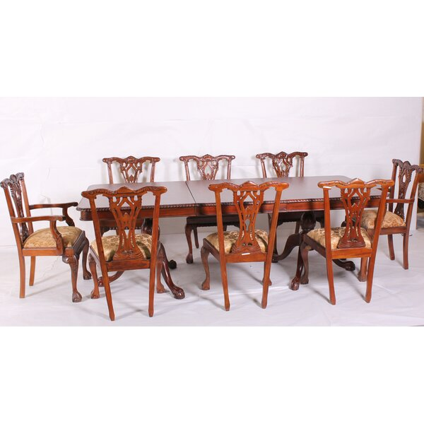 9 Piece Drop Leaf Solid Wood Dining Set by America's Best Furniture