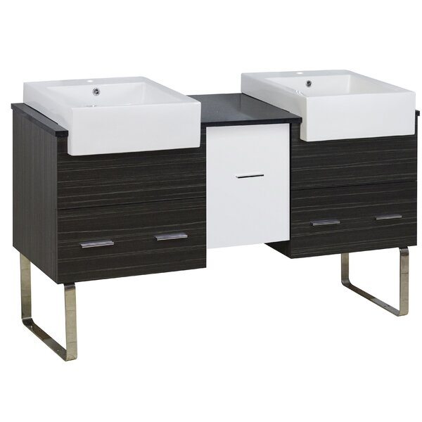 Bascomb 60 Double Bathroom Vanity Set by Orren Ellis