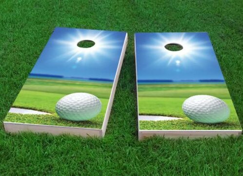 Sunny Golf Cornhole Game (Set of 2) by Custom Cornhole Boards