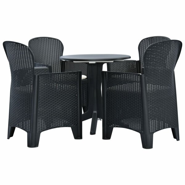 Crantor 5 Piece Dining Set with Cushions by Highland Dunes