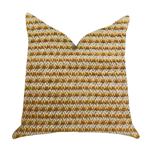 Redrick Braid Tones Luxury Pillow by Bungalow Rose