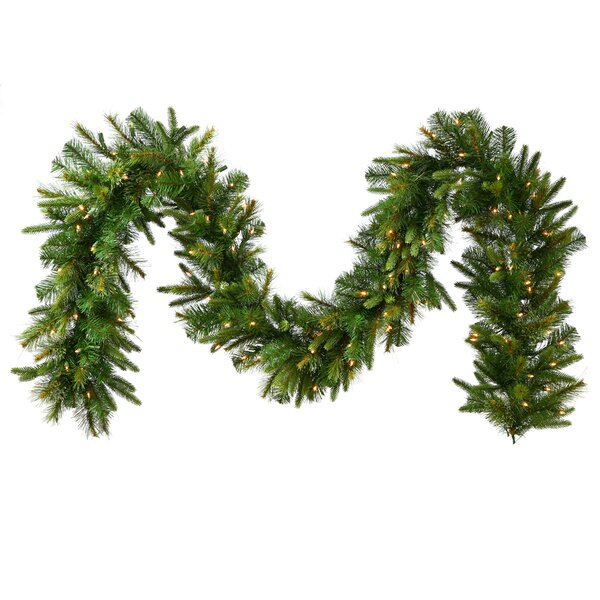 Mixed Cashmere Pine Artificial Christmas Garland with Lights by Vickerman