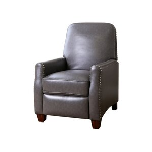 Andrus Pushback Leather Recliner by Mercury Row