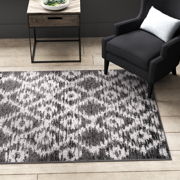 Connie Charcoal/Ivory Area Rug by Greyleigh