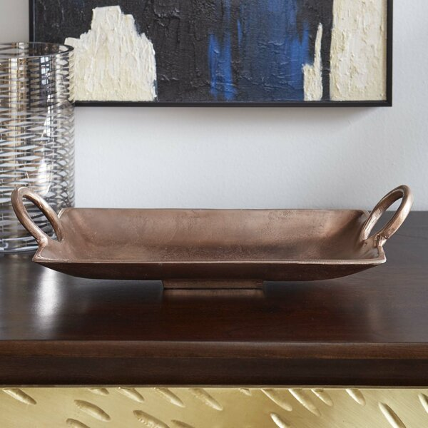 Metallic Rectangle Serving Tray by Corrigan Studio