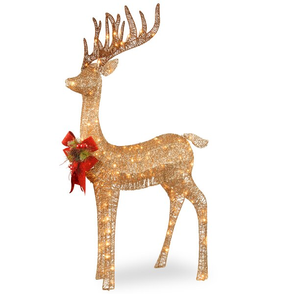 Pre-lit Standing Reindeer by National Tree Co.