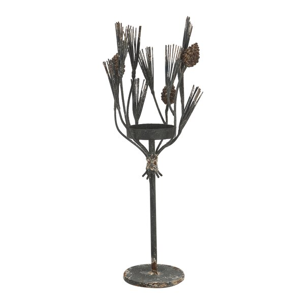 Metal/Glass Candle Holder by Loon Peak