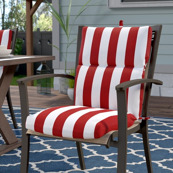 Indoor/Outdoor Dining Chair Cushion by Breakwater Bay