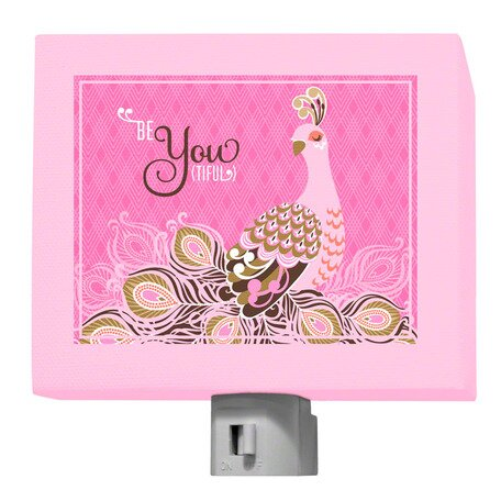 Be-You-Tiful Peacock Night Light by Oopsy Daisy