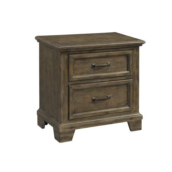 Schweitzer 2 Drawer Nightstand by Gracie Oaks