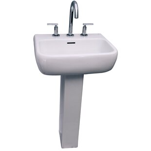 Compare & Buy Metropolitan 420 Vitreous China Rectangular Pedestal Bathroom Sink with Overflow By Barclay
