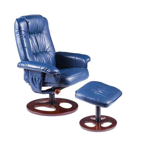 Grogg Manual Swivel Recliner with Ottoman by Orren Ellis