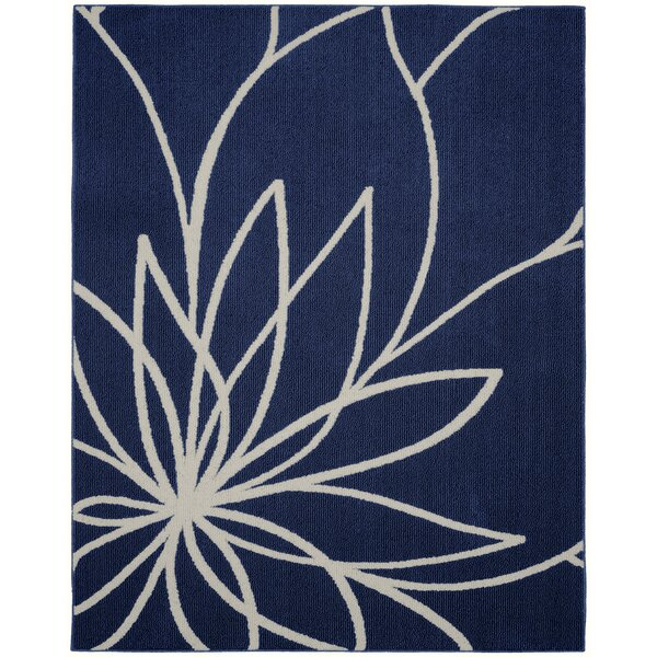 Grand Floral Indigo/Ivory Area Rug by Garland Rug