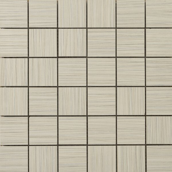 Strands 2 x 2/12 x 12 Porcelain Mosaic Tile in Oyster by Emser Tile