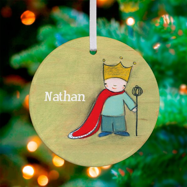 The King of Everything Personalized Ornament by Marisa by Oopsy Daisy