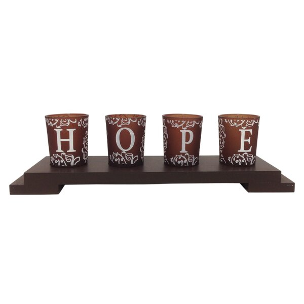 4 Piece Glass Votive Set by Creative Motion
