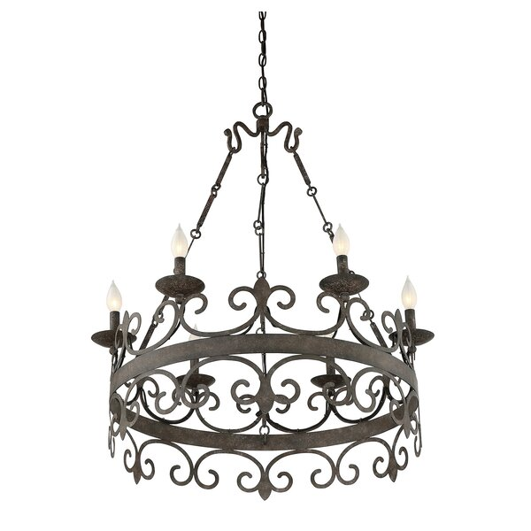 Beakervale 6-Light Candle Style Wagon Wheel Chandelier by Astoria Grand Astoria Grand