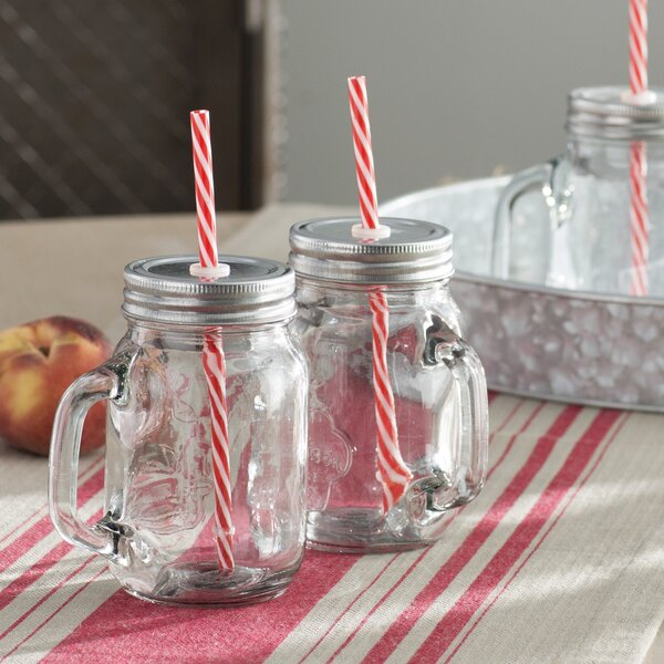 Hatton 16 oz. Glass Mason Jar (Set of 4) by Laurel Foundry Modern Farmhouse