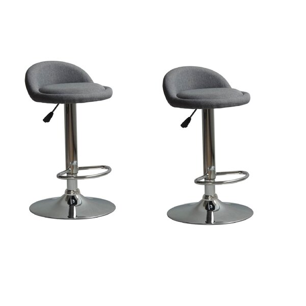 Murrell Adjustable Height Swivel Bar Stool (Set of 2) by Orren Ellis