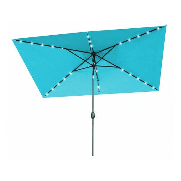 Justis Patio Rectangular 10' Market Umbrella By Winston Porter by Winston Porter 2020 Sale