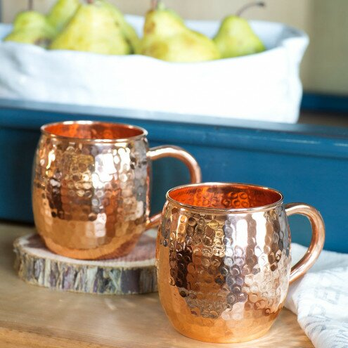 Alvordton Hammered Mule 16 oz. Copper Mug (Set of 2) by Foundry Select