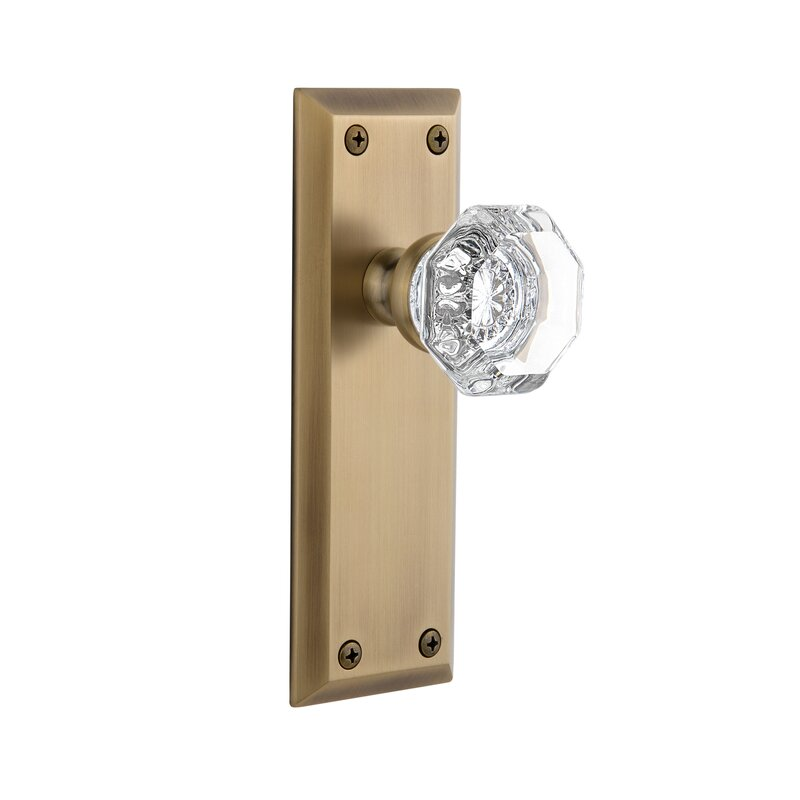 Grandeur Chambord Double Dummy Door Knob with Fifth Avenue Rosette ...