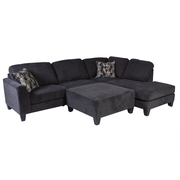 Williar Right Hand Facing Transitional Sectional With Ottoman By Loon Peak