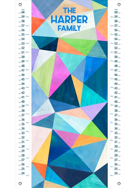 Dontae Abstract Summer Canvas Growth Chart by Harriet Bee