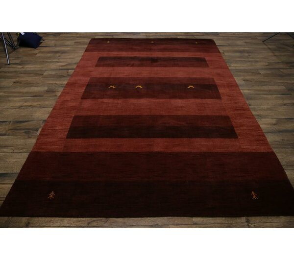 One-of-a-Kind Seidman Oriental Hand-Knotted Wool Brown Area Rug by Bloomsbury Market