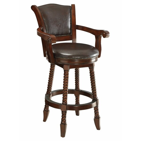 Betts Rope Twist Wooden 29 Bar Stool by Darby Home Co
