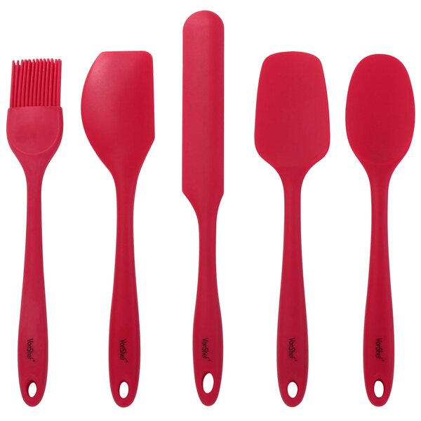 5 Piece Silicone Baking Utensil Set by VonShef