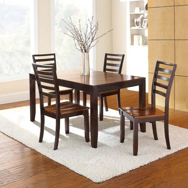 Hidalgo 5 Piece Solid Wood Dining Set by Millwood Pines