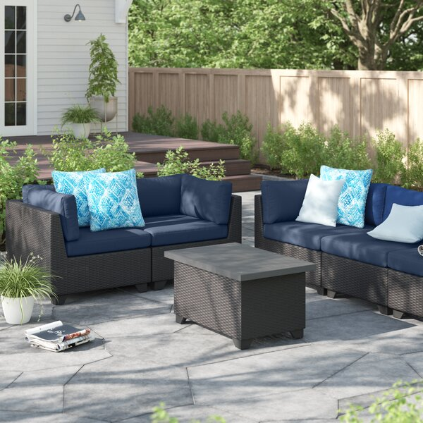 Fernando Outdoor 6 Piece Sofa Seating Group with Cushions by Sol 72 Outdoor