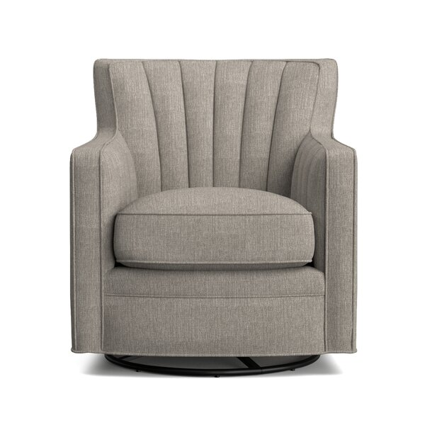 Eady Swivel Armchair by Rosecliff Heights