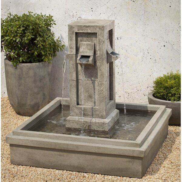 Concrete Pallisades Fountain by Campania International