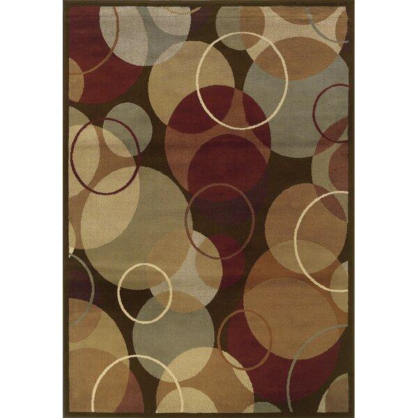 Harper Brown/Gold Area Rug by Threadbind
