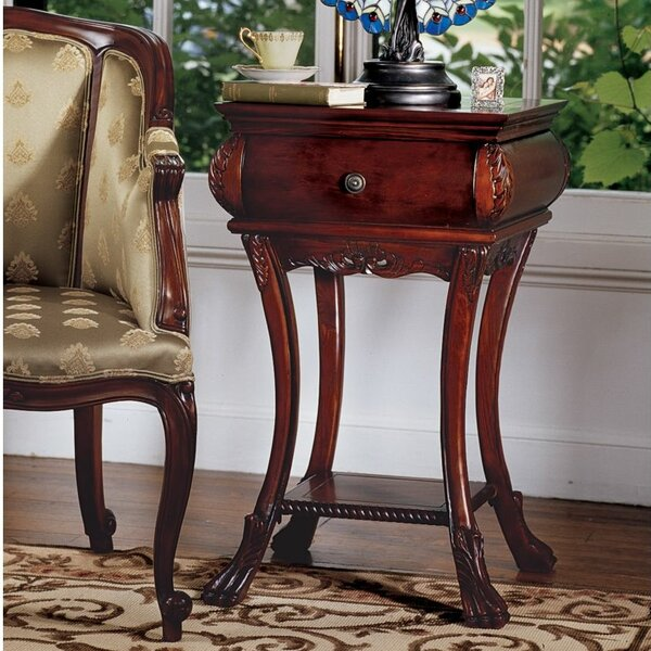 Loire Hourglass End Table With Storage by Design Toscano Design Toscano