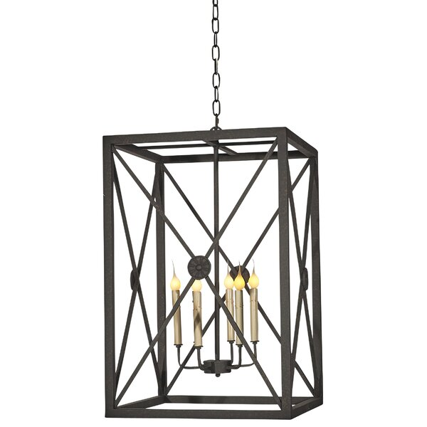 Medallion 5 - Light Candle Style Rectangle / Square Chandelier by ellahome ellahome