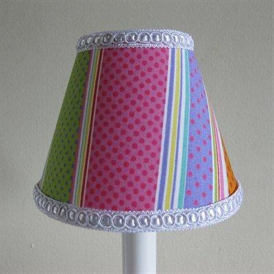 Sweet Tart Stripes 11 Fabric Empire Lamp Shade by Silly Bear Lighting