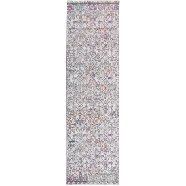 Emmalynn Purple/Ivory/Blue Area Rug by Bungalow Rose