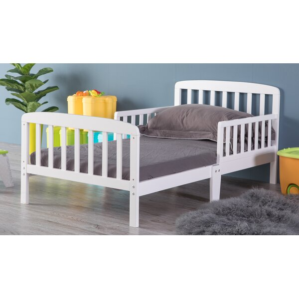 Hammondville Wooden Convertible Toddler Bed with Mattress by Harriet Bee